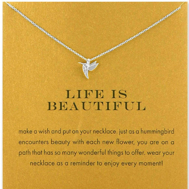 Fashion Hummingbird Necklace - Gold, Silver Designs