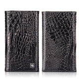 Luxury Genuine LeatherMagnetic Wallet Card Bag Phone case For iPhone 6 6s 7 8 Plus X Crocodile Grain Soft PU Back Cover - MobilEksperten.no