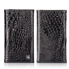 Luxury Genuine LeatherMagnetic Wallet Card Bag Phone case For iPhone 6 6s 7 8 Plus X Crocodile Grain Soft PU Back Cover