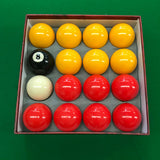 Multipack Red & Yellow Pool Balls for Commercial or Home Use - SherlockAmusementSales