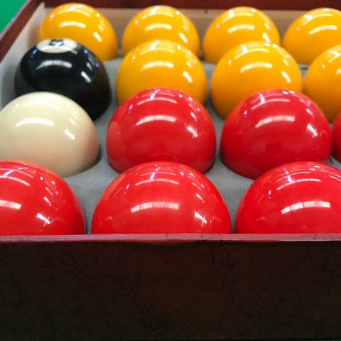 Red & Yellow Pool Balls for Commercial or Home Use - SherlockAmusementSales