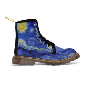 starry night Canvas Boots