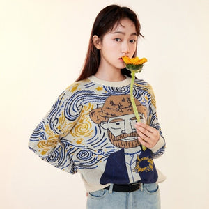 Van gogh Cartoon Sweater