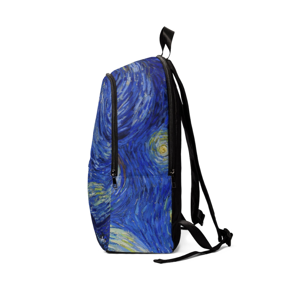 starry night Fabric Backpack