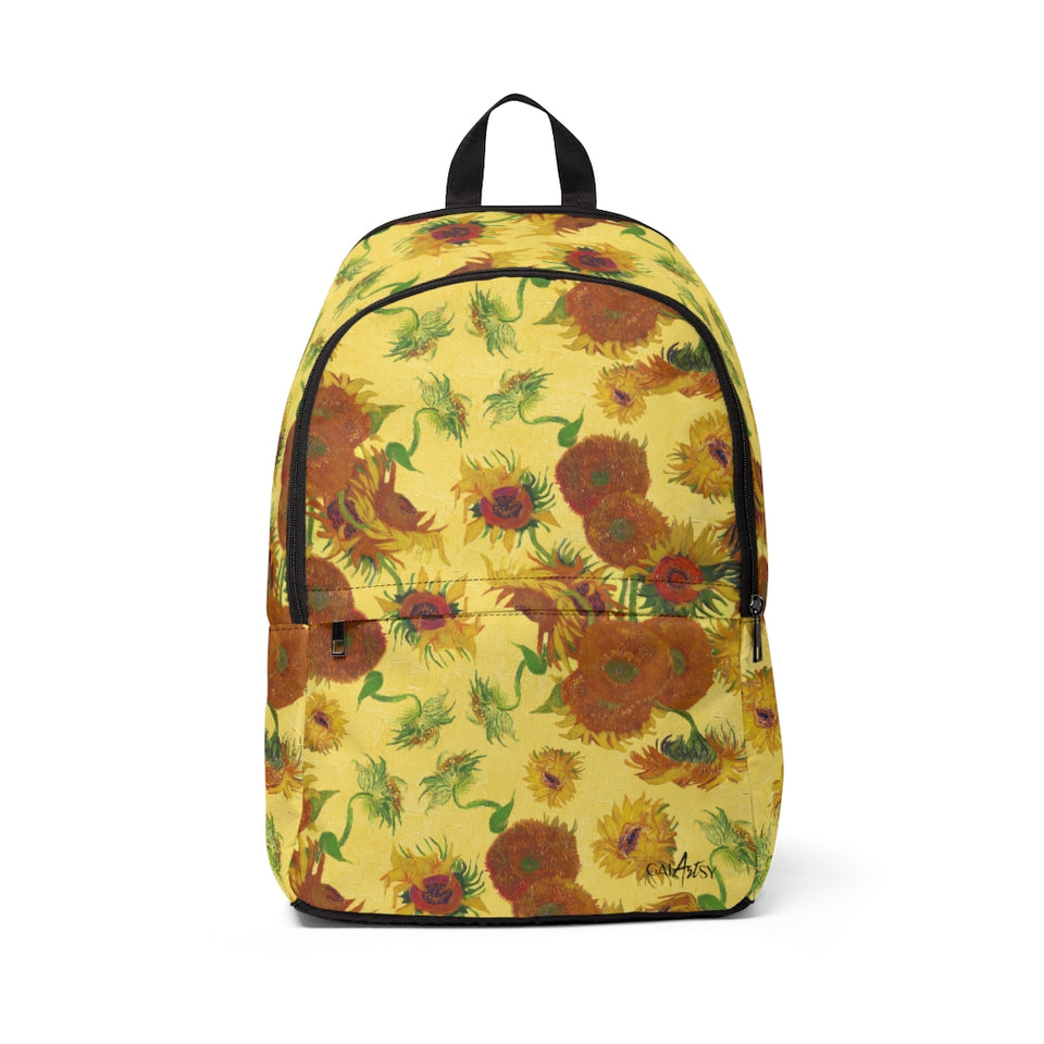 sunflowers Fabric Backpack