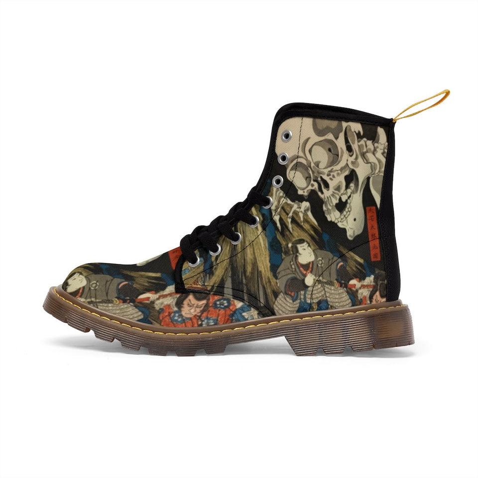 Kuniyoshi Canvas Boots
