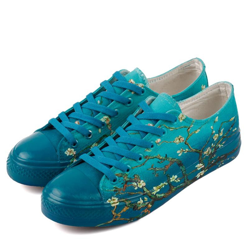 almond blossom Hand painted shoes