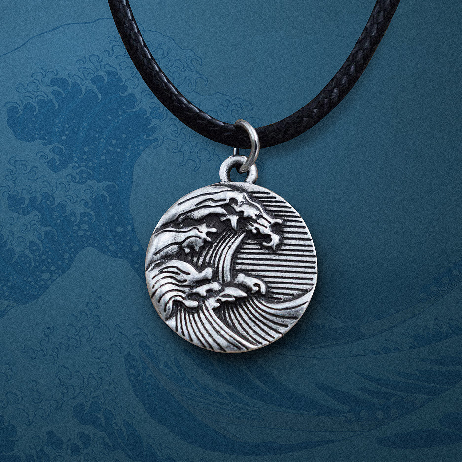 The great wave of kanagawa Necklace