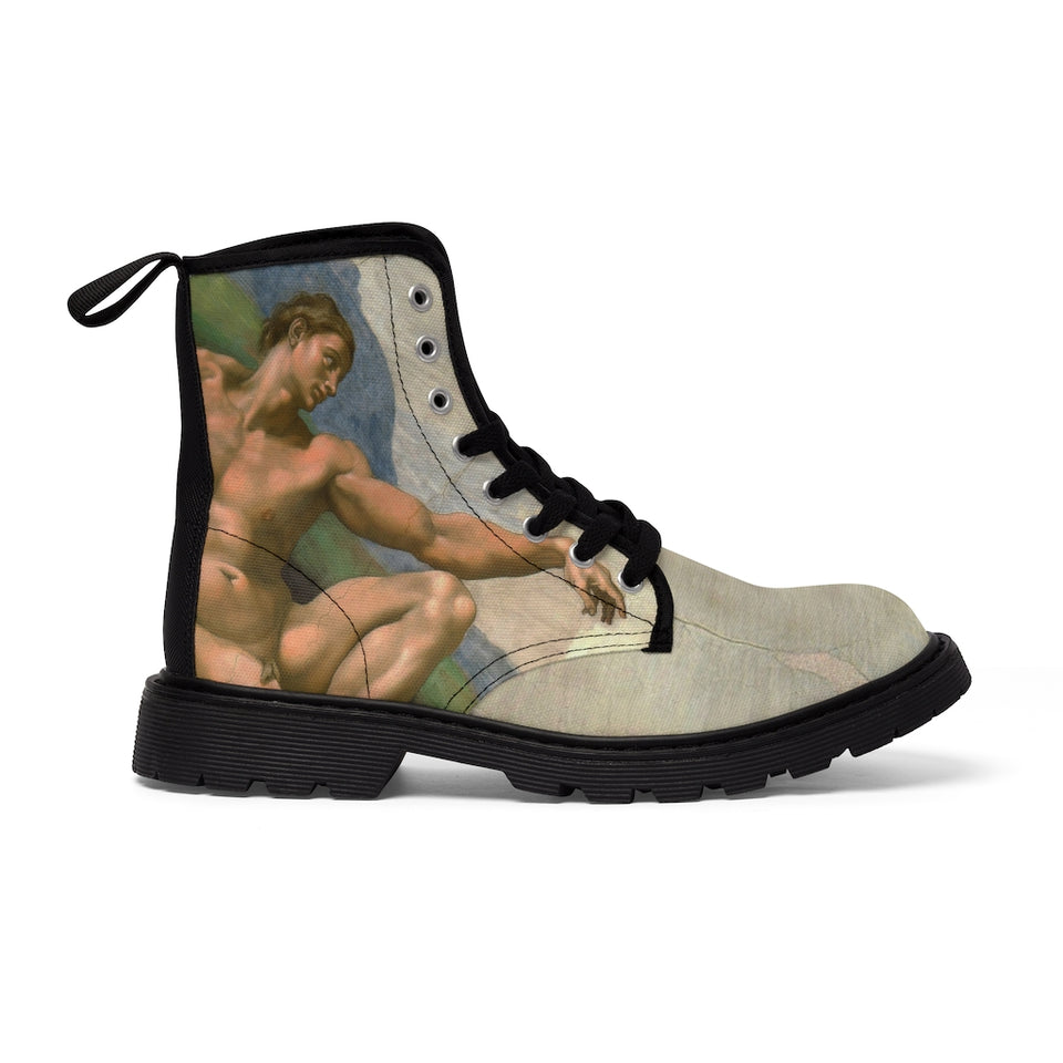 Adam's creation Canvas Boots
