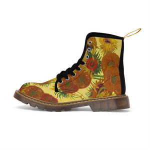 sunflowers Canvas Boots