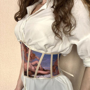 Handmade The Birth of Venus belt corset