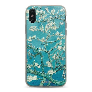 Almond blossoms embossed iPhone Case