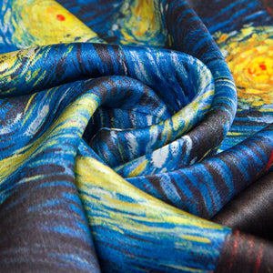 The starry night silk scarf