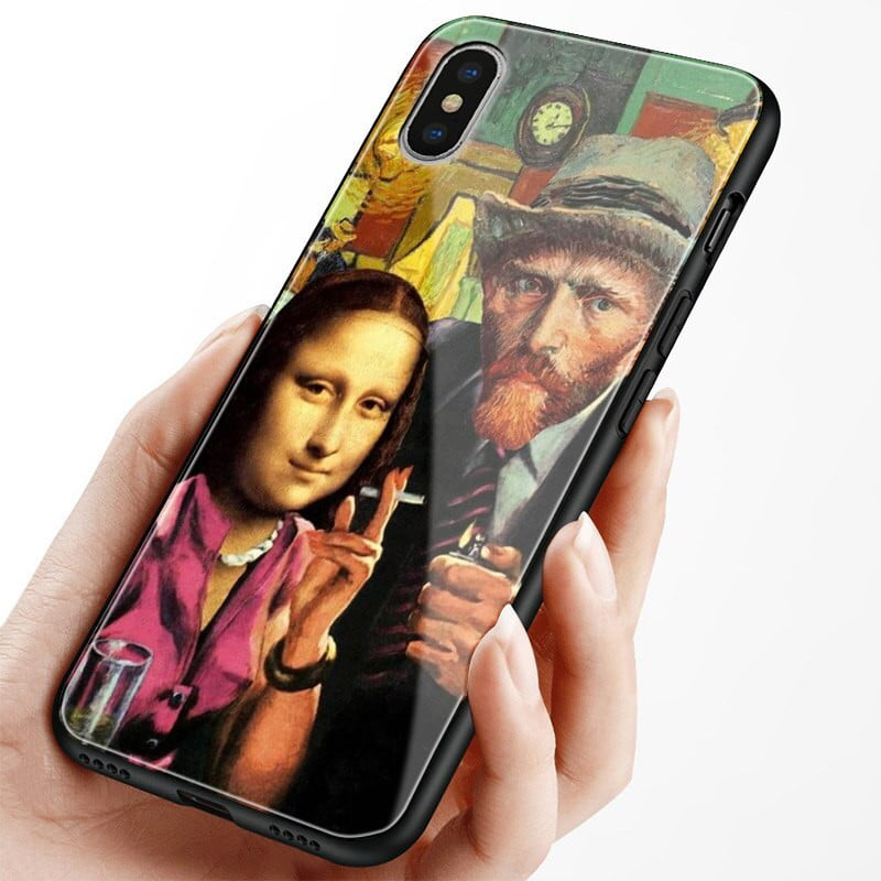 Van Gogh x Mona Lisa collage iPhone case