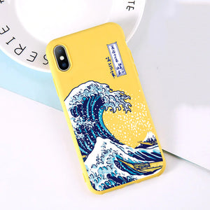 Hokusai Wave - Colored iPhone cases