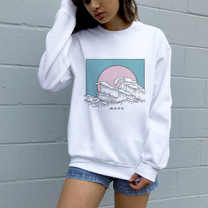 And So It Is, Hokusai Wave Aesthetic Sweatshirt