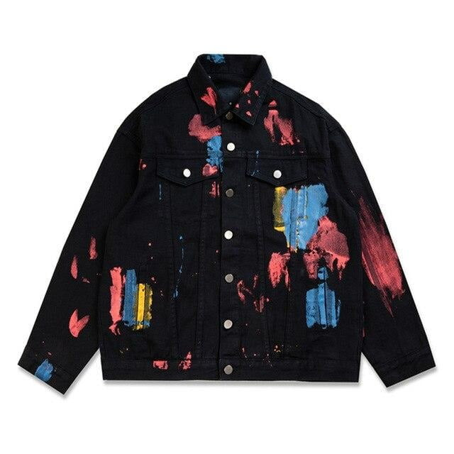 Abstract colors Denim Jacket
