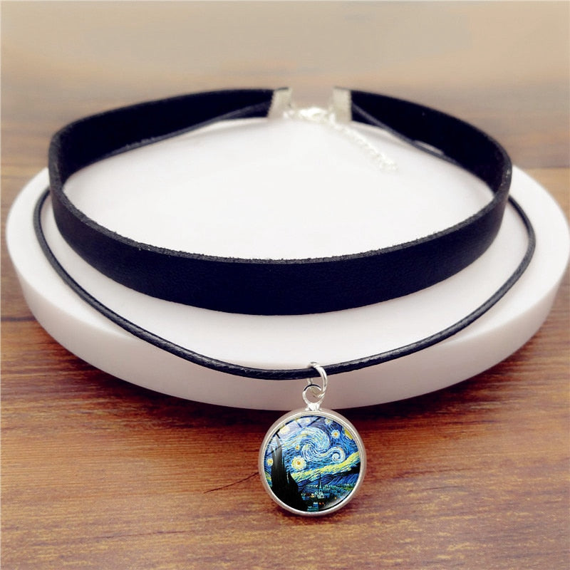 Van Gogh Starry Night Choker Necklace