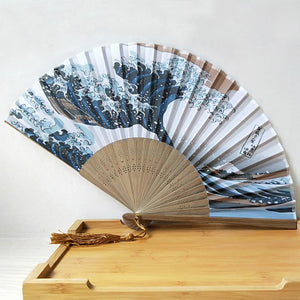 Kanagawa Wave Folding Fan