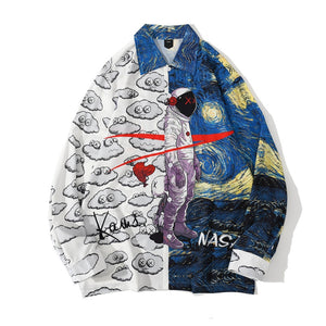 Starry Night x Nasa Printed Shirt