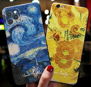Van gogh embossed iPhone cases