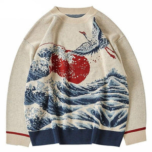The great wave of kanagawa sweater