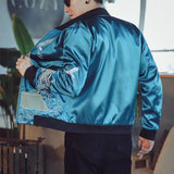 Hokusai inspired bomber jacket