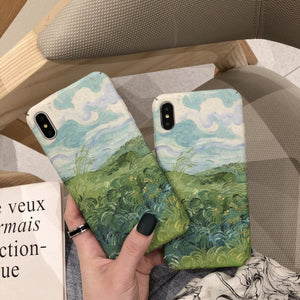 Van gogh landscape iphone case
