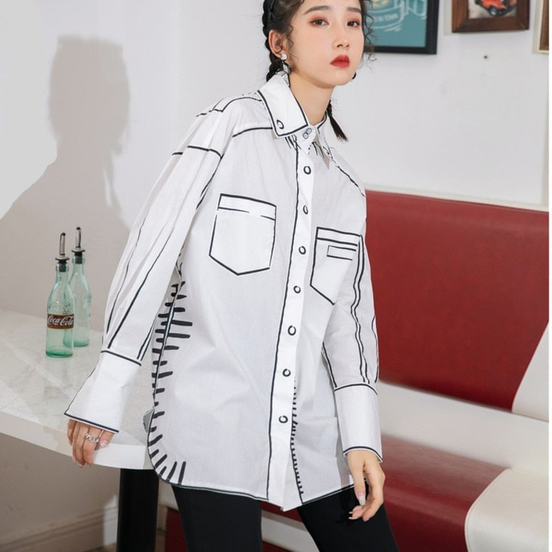 Outlined abstract shirt