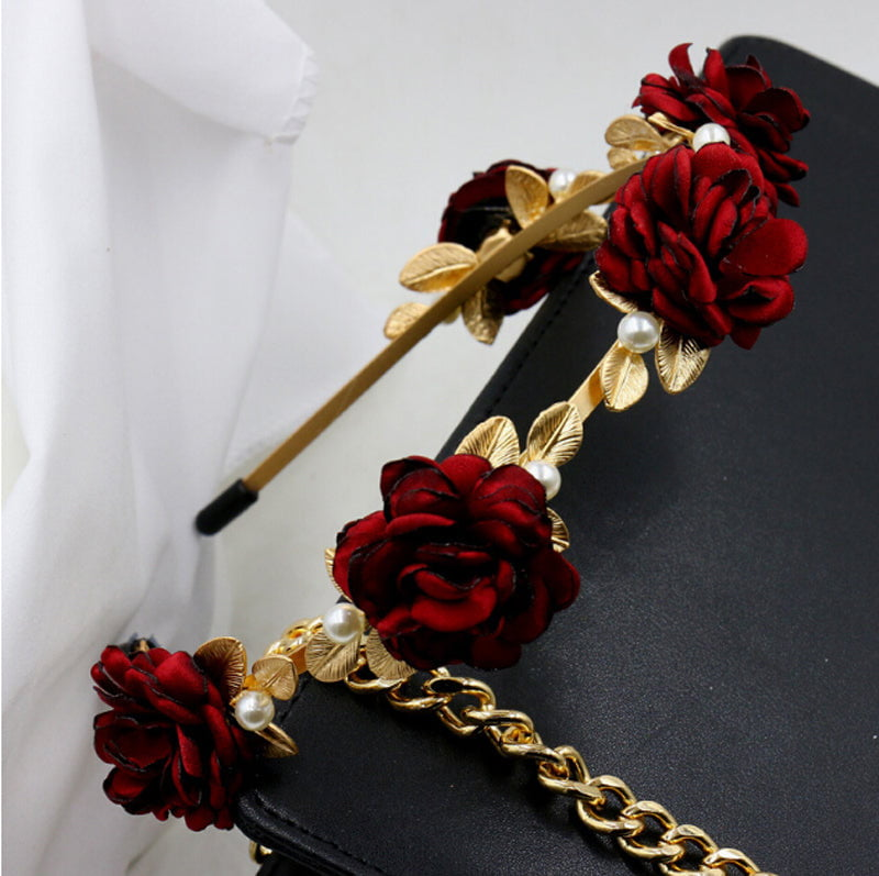 Rococo inspired floral hairband