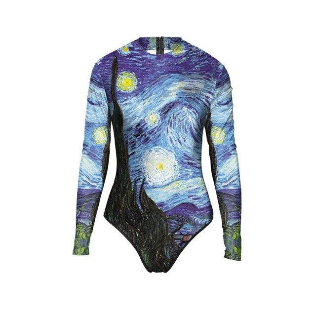 Van gogh starry night Bodysuit