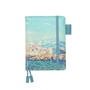 Oil paintings leather notebooks