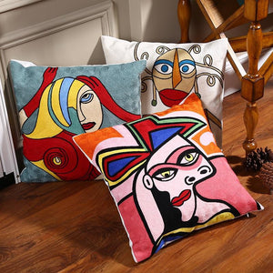 Picasso style pillow