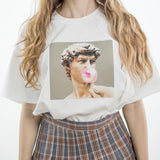 David Michelangelo statue Bubble gum T-shirt
