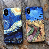 Van Gogh matte iPhone cases
