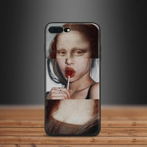monalisa Collage art iphone case