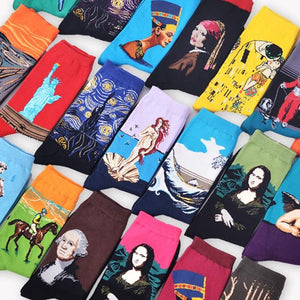 Famous paintings socks