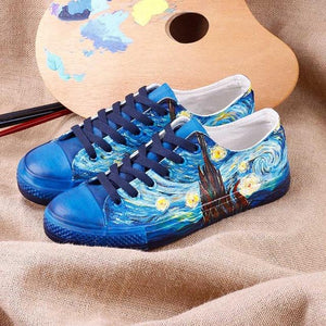 Starry night Hand painted shoes