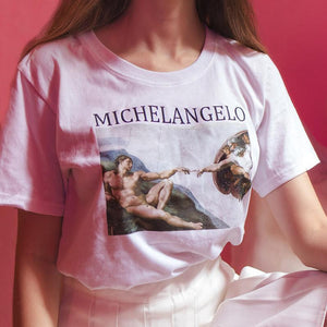 Adam Creation Michelangelo Tshirt
