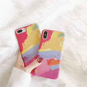 Colorful abstract painting iphone Cases