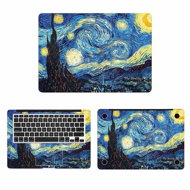 Starry night Macbook Skin