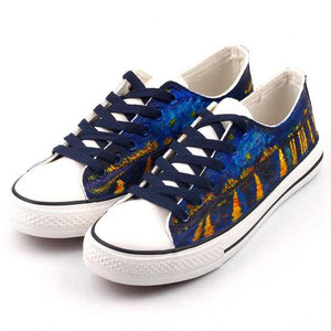 Starry Night Over the Rhône Hand painted shoes