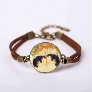 Gustav Klimt Art on Bracelet