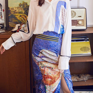 Van Gogh Blouse & Skirt set
