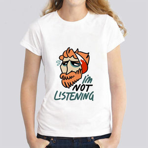 I'm not listening - Van gogh illustration tshirt