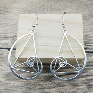 Fibonacci Golden Ratio Earrings