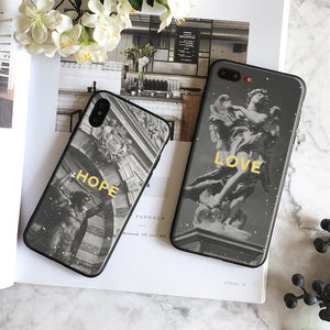Black & white Statues iPhone Cases