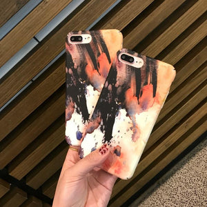 Oil Painting Abstract Matte iPhone Cover