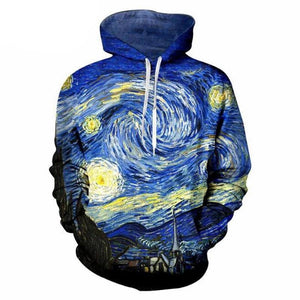 Starry night Full printed Hoodie
