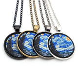 The Starry Night embroidery necklace